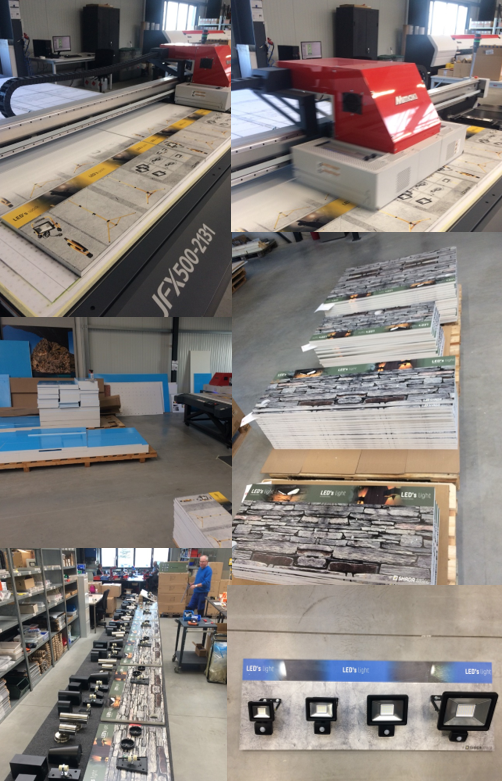 Printing display panels